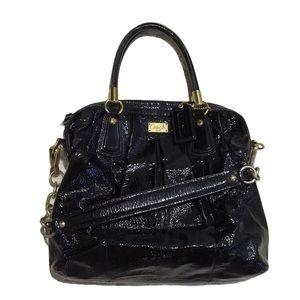 VINTAGE Coach Black Patent Shoulder Bag